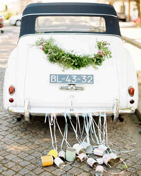 wedding car cans wedding getaway car ideas for away in style