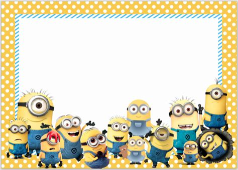 Minions Movies Parties And More Talk Of The Trains Minion Invitation Template