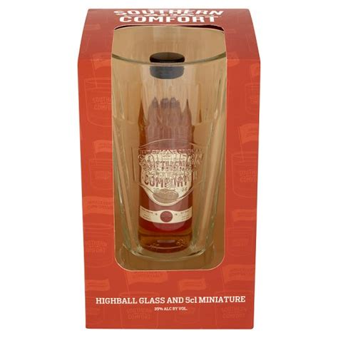 southern comfort gift set southern comfort 5cl and highball glass gift pack