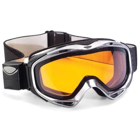 ski goggles the electronic tint ski goggles hammacher schlemmer