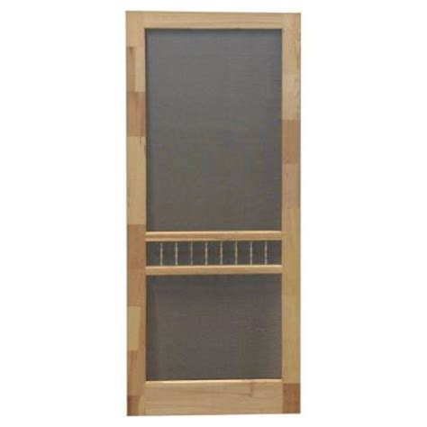 Wooden Screen Doors At Home Depot by Screen Tight 30 In X 80 In Arbor Wood Unfinished