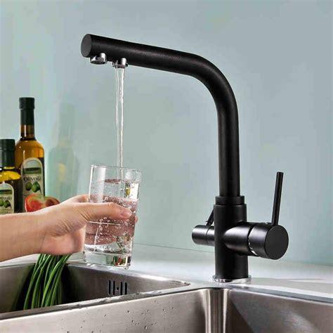 Kitchen Black Faucet by Wholesale Matte Black Kitchen Faucet Tri Flow Swivel Sink