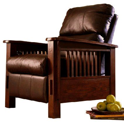 mission style leather recliners mission style recliner classic mission recliner by