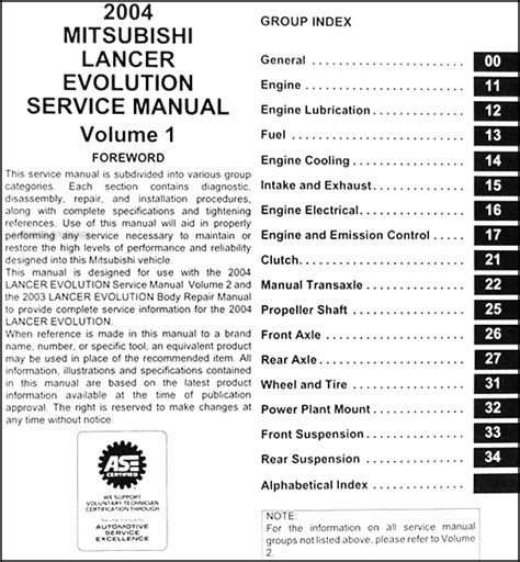 motor auto repair manual 2007 mitsubishi lancer free book repair manuals service manual pdf 2004 mitsubishi lancer evolution transmission service repair manuals