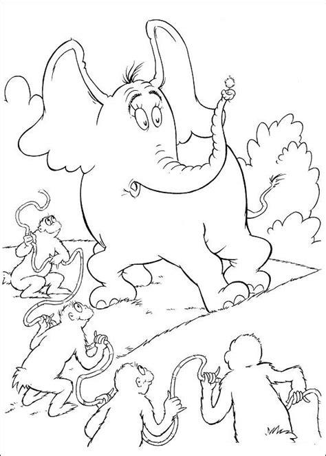 kids n fun com 65 coloring pages of horton dr seuss