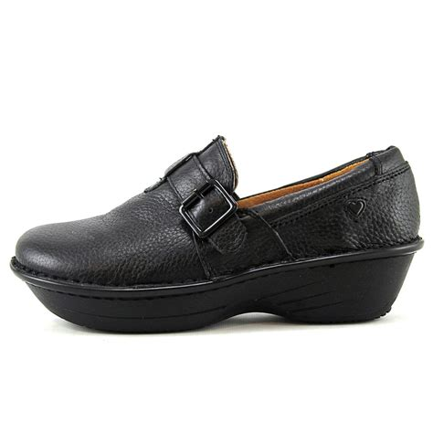 wide width clogs for mates gelsey womens black wide leather clogs shoes