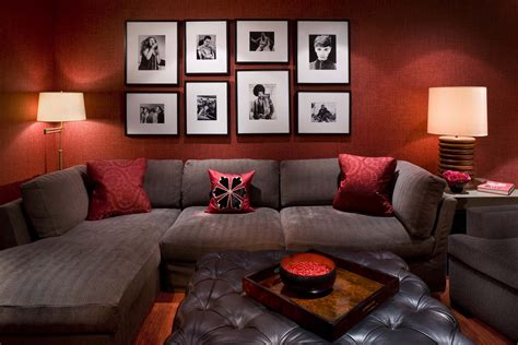 red living room walls dark red living room walls with decor 2017 and brown photo