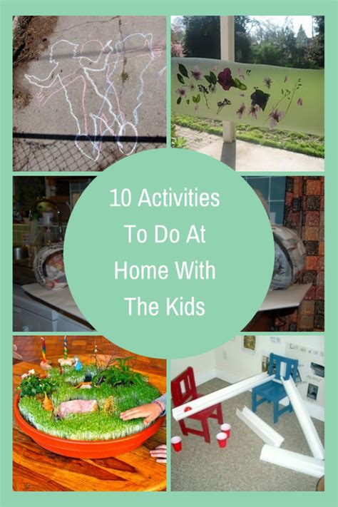 10 activities to do at home with the planning with