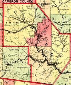 cameron county pennsylvania maps and gazetteers