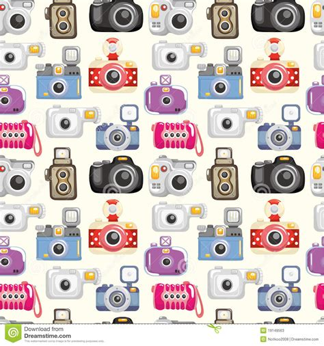 pattern background camera seamless camera pattern stock photos image 19149563