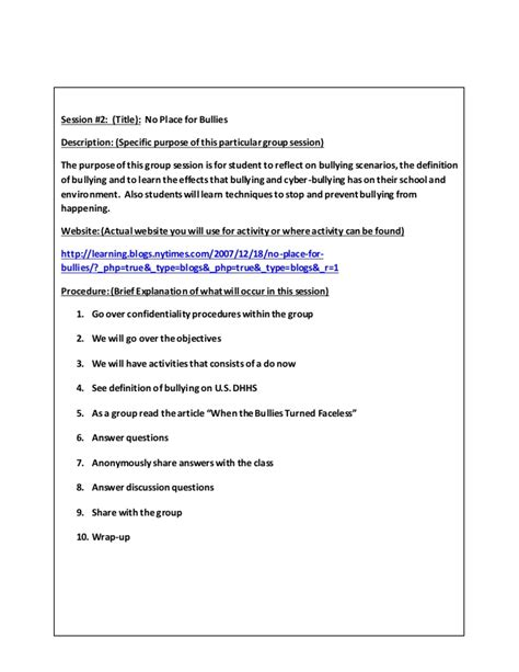 brief op note template small counseling project lessons template