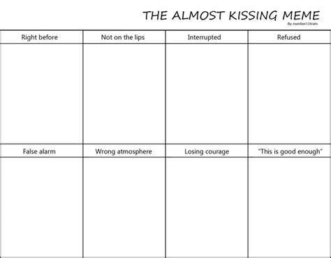 kissing meme  numbertrain  deviantart art