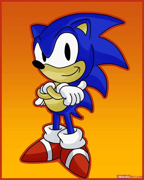 Sonic Drawing how to draw sonic the hedgehog step by step sonic