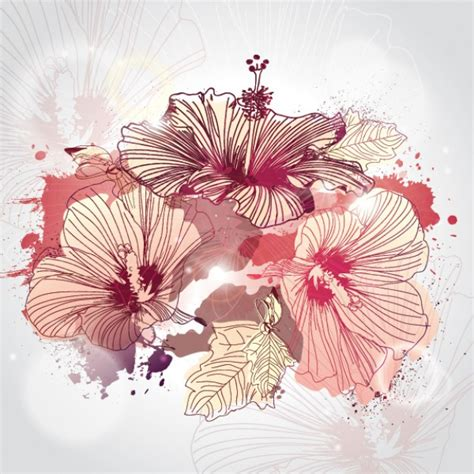 imagenes de flores ilustradas hand drawn illustrated flowers vector free download