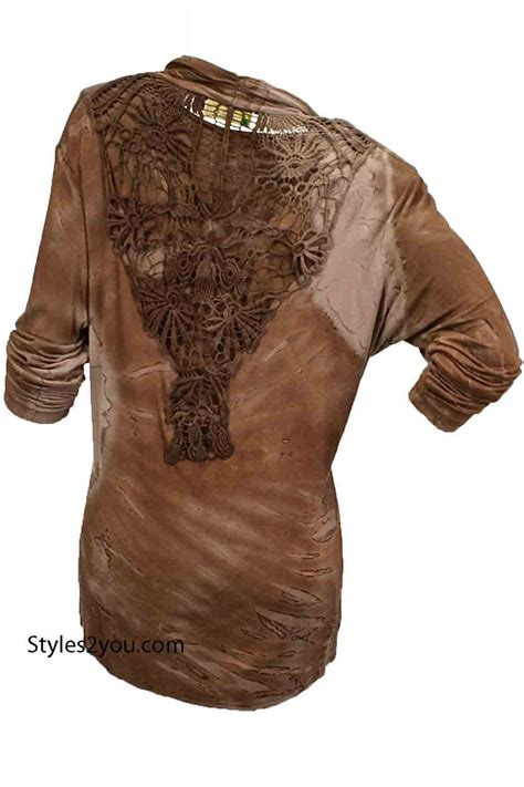 Blouse Nola nola blouse and jacket set in brown s249006br impulse