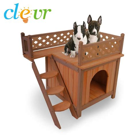 double story dog house dog cat pet house wood wooden 2 two story from crosslinks