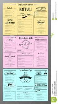 set template set of menu design templates stock vector image 52295324