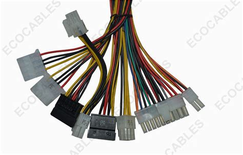 electrical wire supply universal 6 pin electric wire harness 20awg coaxial cable