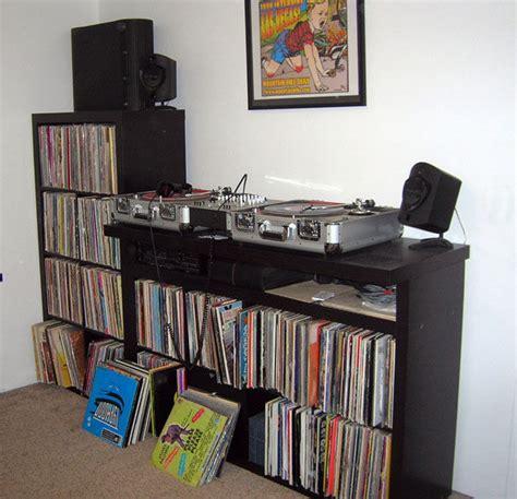 Bookshelf Speakers Stand The Ikea Expedit Heads Record Storage Drum Amp Bass