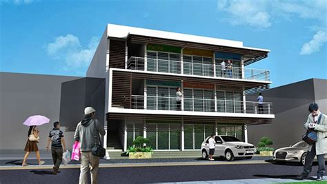 building design commercial building design building home a three storey commercial and residential building on behance
