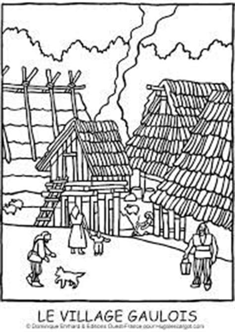 hutte gauloise dessin les gaulois coloriage recherche histoire ligne