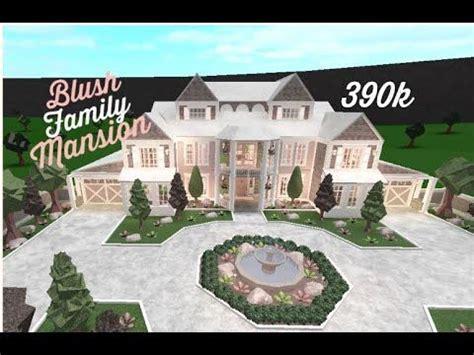 roblox bloxburg blush family mansion speed build