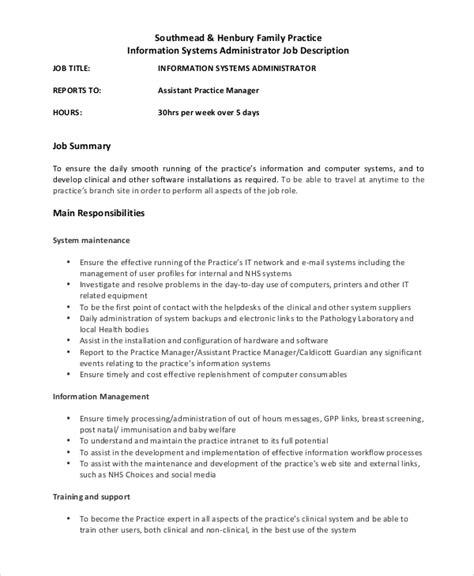 system administrator job description it job posting for