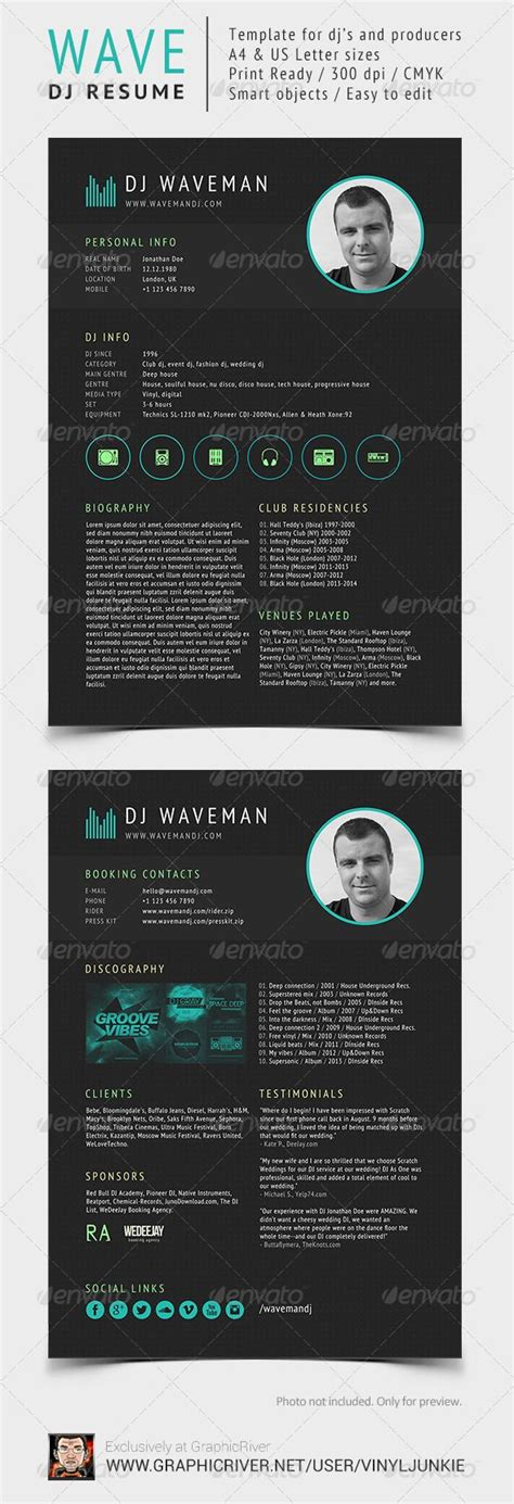 dj press kit template free 15 best images about dj press kit and dj resume templates