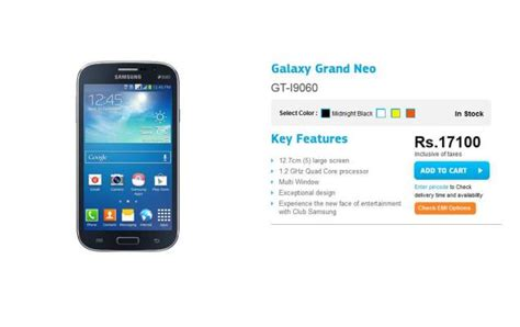 samsung grand neo mobile price in india samsung galaxy grand neo price dropped to rs 17 100