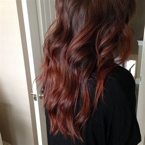cherry cola brown hair color her formula is redken shades eq cherry cola rocket fire