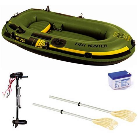 inflatable boat motor battery sevylor fish hunter 250 inflatable boat with motor