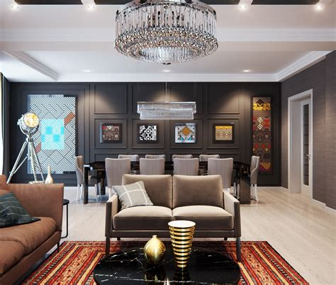 A modern interior home design which combining a classic decor that would bring out a trendy