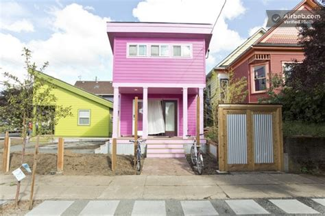 tiny houses portland or 200 sq ft pink tiny home in portland or tiny house pins