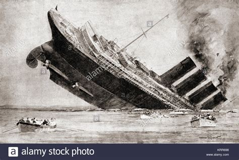 german u boat sinks the lusitania cause and effect lusitania 1915 stock photos lusitania 1915 stock images