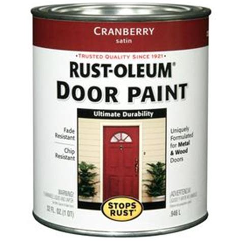 rust oleum alkyd enamel stops rust cranberry semi gloss based enamel interior exterior paint