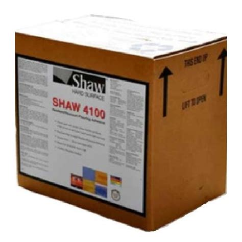 shaw luxury vinyl 4100 4 gallon adhesive flooring accessory