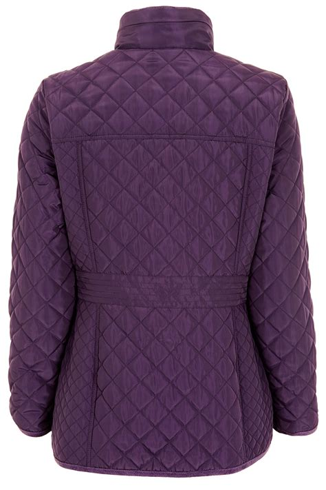 Quilted Coat quilted coat with printed lining