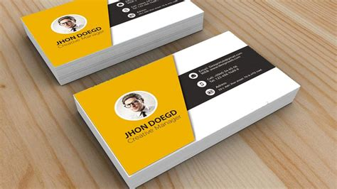 cool card template design cool business card in photoshop black yellow