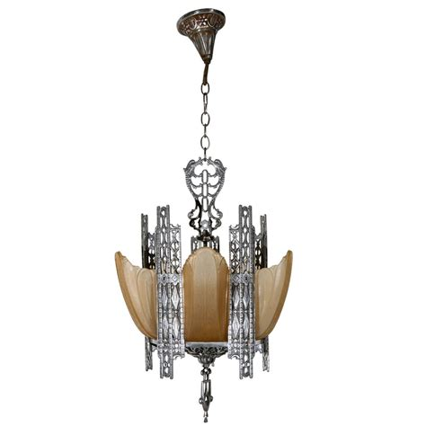 Art Deco Chandelier At 1stdibs Deco Chandelier