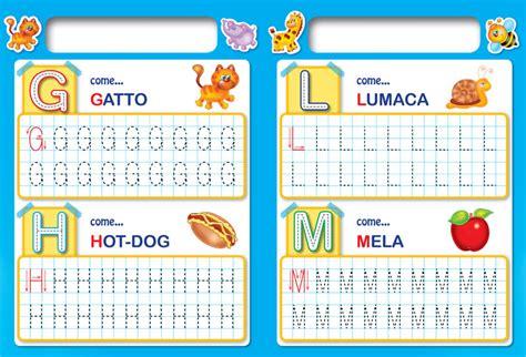 le lettere edizioni edizioni borgo imparo le lettere con il libro lavagna