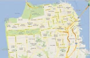 San Francisco Map Google by San Francisco Map Google