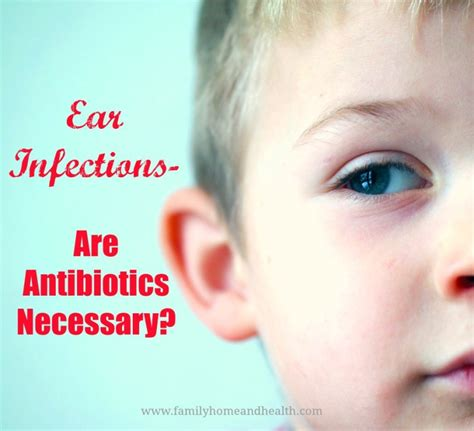 antibiotics for ear infection kristie