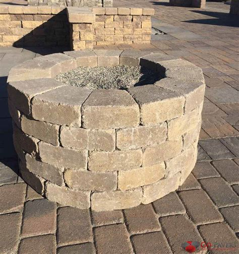 firepit pavers get the best pavers bbq pit installation go pavers