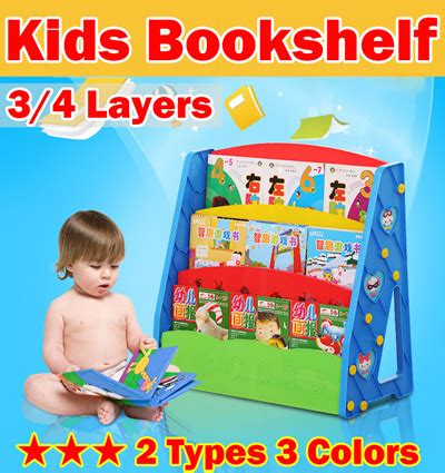 qoo10 3 4 layers bookshelf children bookshelves