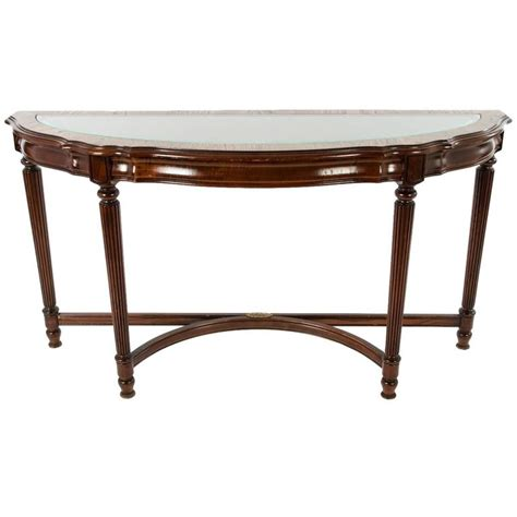 Demilune Console Table Vintage Glass Top Demilune Console Table For Sale At 1stdibs