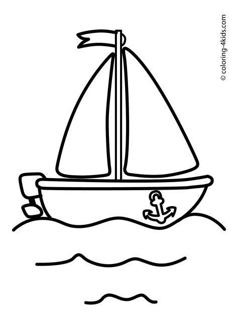 boat sailing ship coloring pages for kids transportation