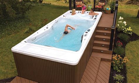 swim spa backyard designs large backyard ideas porches patios decks and yards