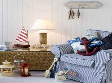 Nautical decor for home with red anker home interior design