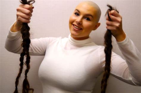 headshave charity organizations newcastle university student uses her head in aid of