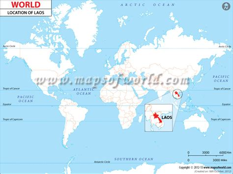 laos on the world map where is laos location of laos
